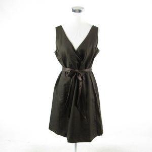 J. Crew brown cotton A-line dress 14